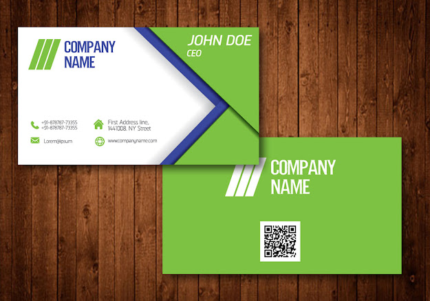Vector Template Creative Business Card