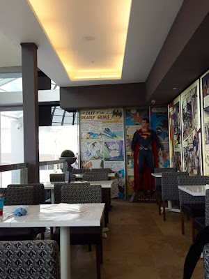 Feeling super at DC Superheroes Cafe, Marina Bay Sands