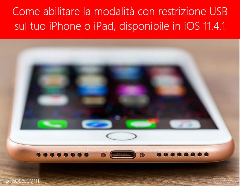 Come abilitare la modalità con restrizione USB sul tuo iPhone o iPad, disponibile in iOS 11.4.1