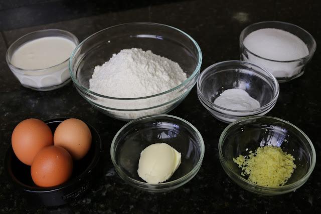 Ingredientes para bizcocho de nata