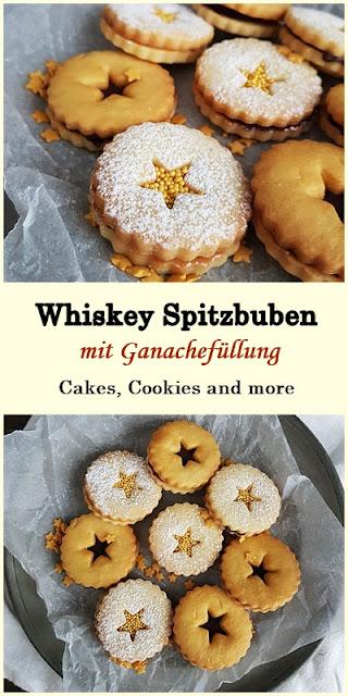 Rezept für Whiskey Spitzbuben mit Schokoladen und Ganache Füllung