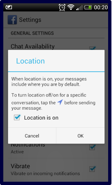 How To Turn On Location On Facebook