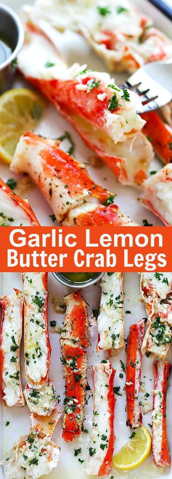 Amazing Garlic Lemon Butter Crab Legs