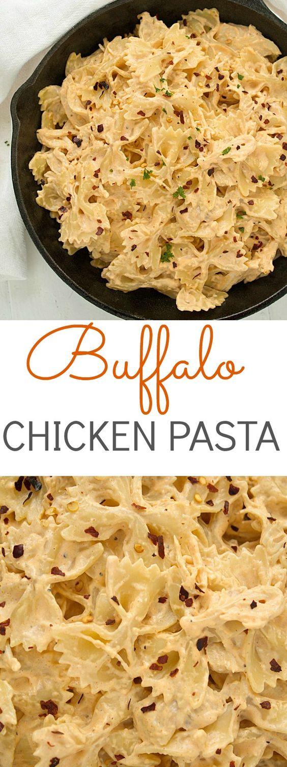 Buffalo Chicken Pasta #buffalo #chicken #pasta #pastarecipes #easypastarecipes #chickenrecipes