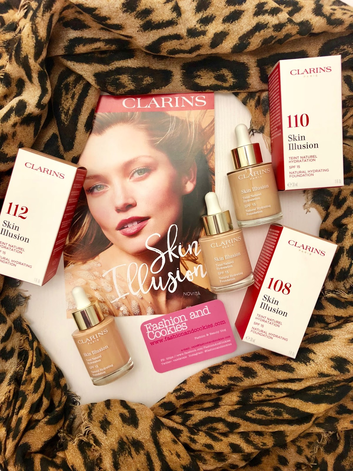 Skin Illusion di Clarins: nuovo fondotinta idratante effetto nudo su Fashion and Cookies beauty blog, beauty blogger