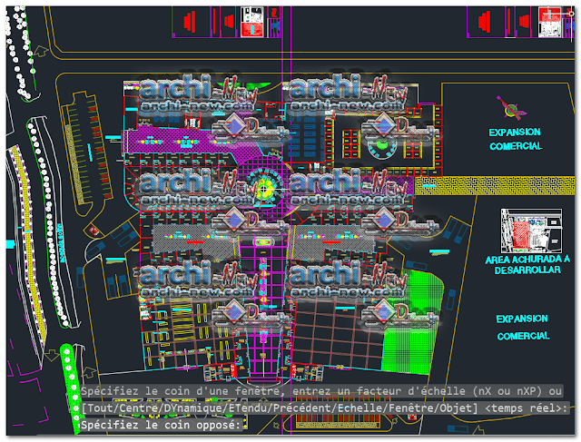 Project of a shopping center dwg