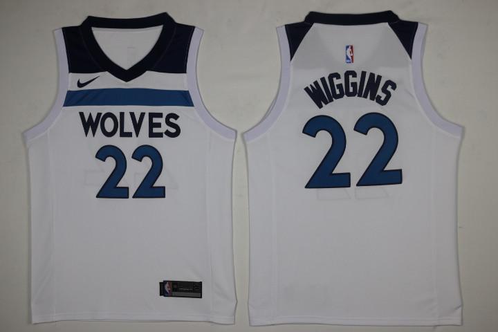 7f201d6e162 Men's Minnesota Timberwolves #22 Andrew Wiggins New White 2017-2018 Nike  Swingman Stitched NBA Jersey
