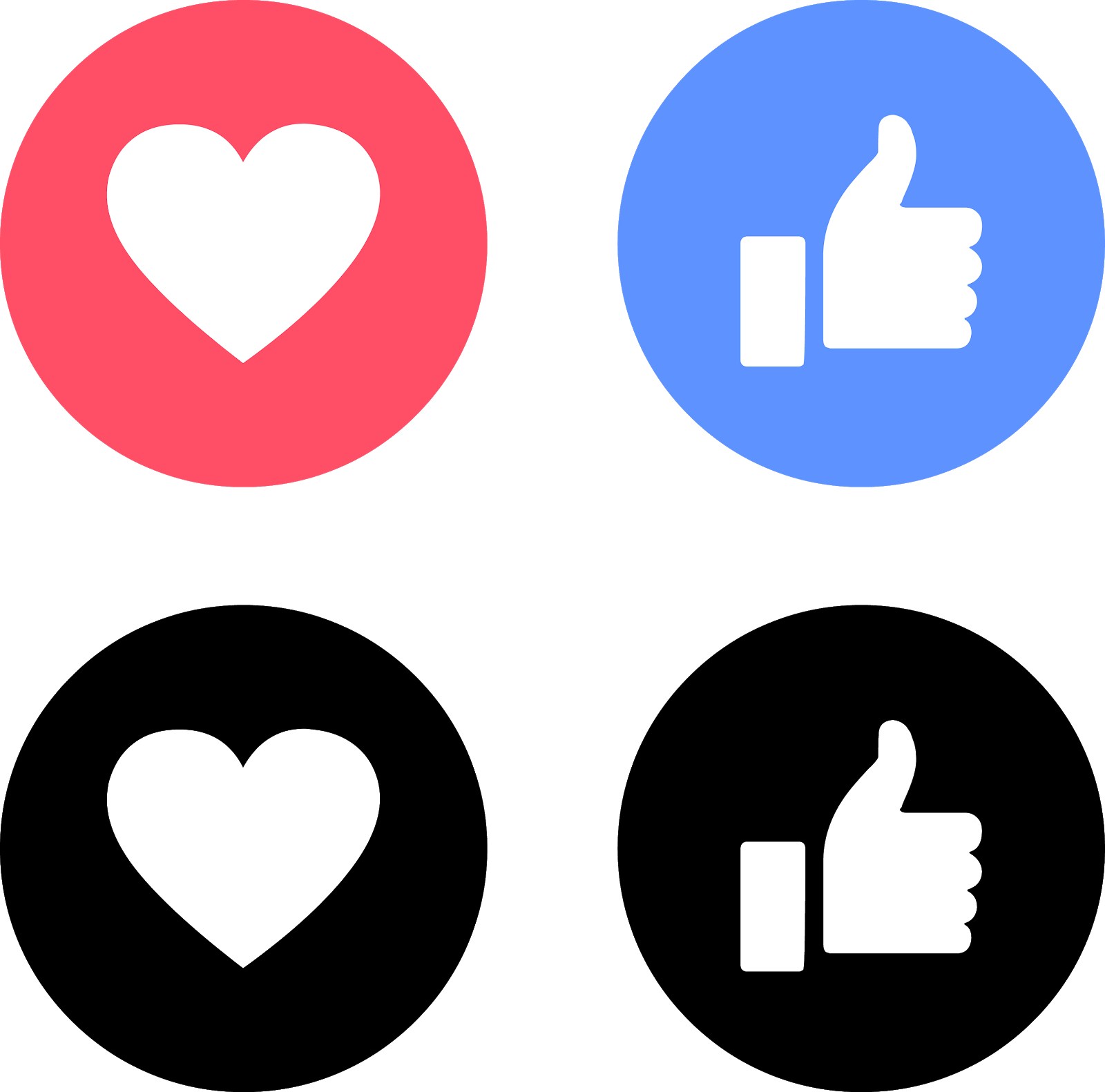 download like love facebook icons svg eps png psd ai - el