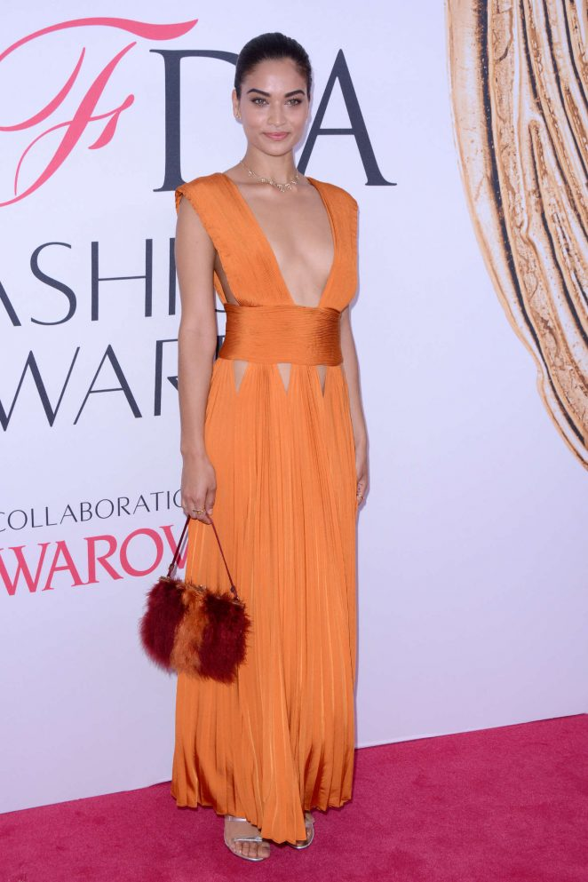 Shanina Shaik bares sideboob at the CFDA Fashion Awards