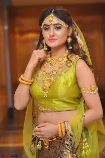 Sony Charishta in Green Choli Ghagra Transparent Chunni Ethnic Wear March 2017 063.JPG