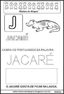Bichonário desenho de jacaré