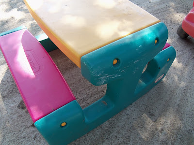 Diy Project Spray Paint Plastic Little Tikes Outdoor Toys