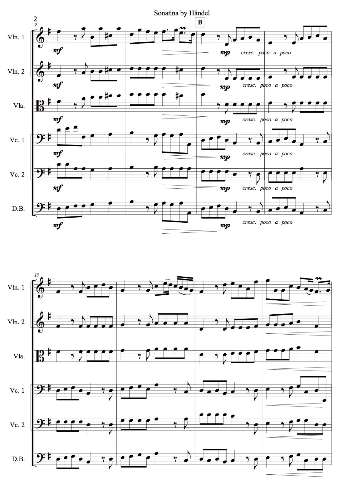 Free Sheet Music Beginning String Orchestra