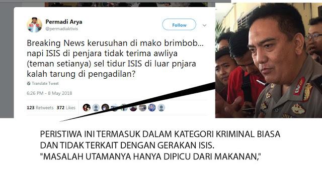 Kerusuhan di Mako Brimo, Abu Janda Coba Hubungkan dengan ISIS dan HTI, eh Malah Kena Tampar Polri