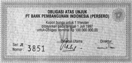 Contoh Bentuk Obligasi (Bond)
