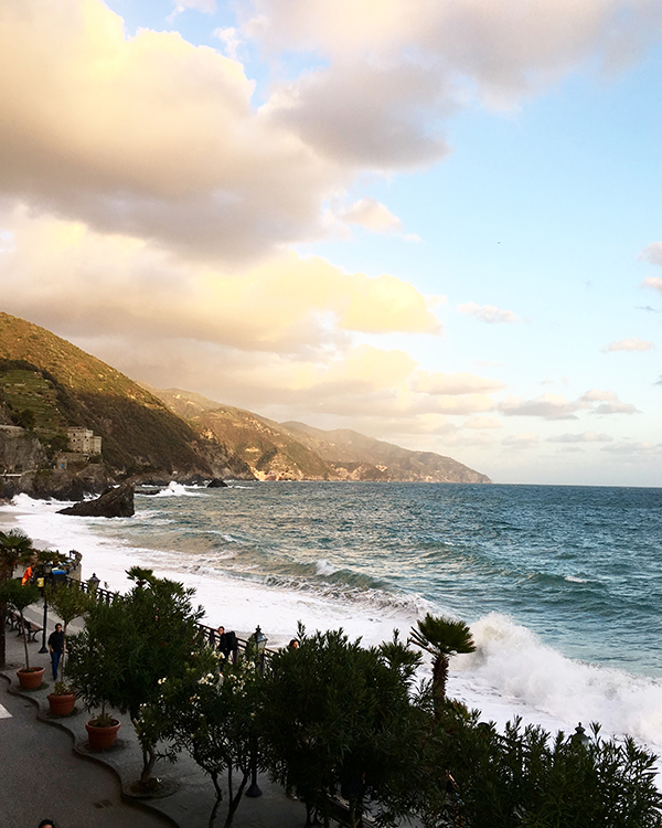 Golden hour in Monterosso al Mare, Cinque Terre, Italy