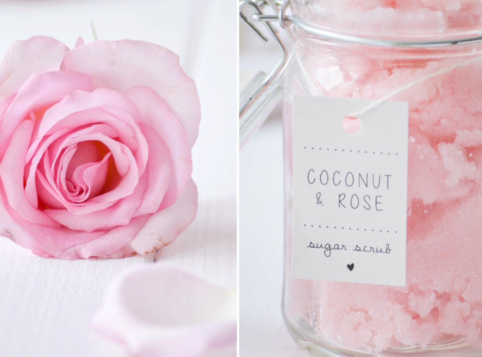 DIY Body Scrub mit Rosenwasser und Limette Geschenk im Glas