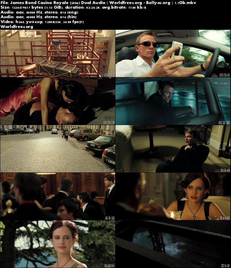 Casino Royale 2006 BluRay 450Mb Download Dual Audio 480p ESubs