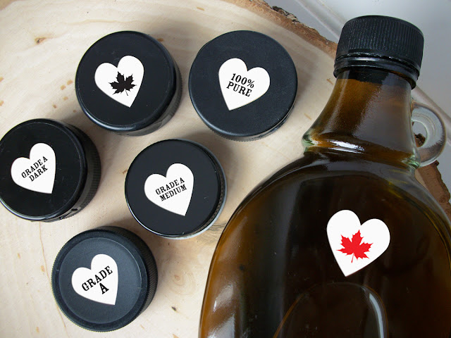 White Heart Maple Syrup Color Grade Labels