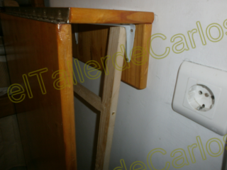 Eltallerdecarlos ajuste final de puerta abatible - Como hacer una mesa abatible ...