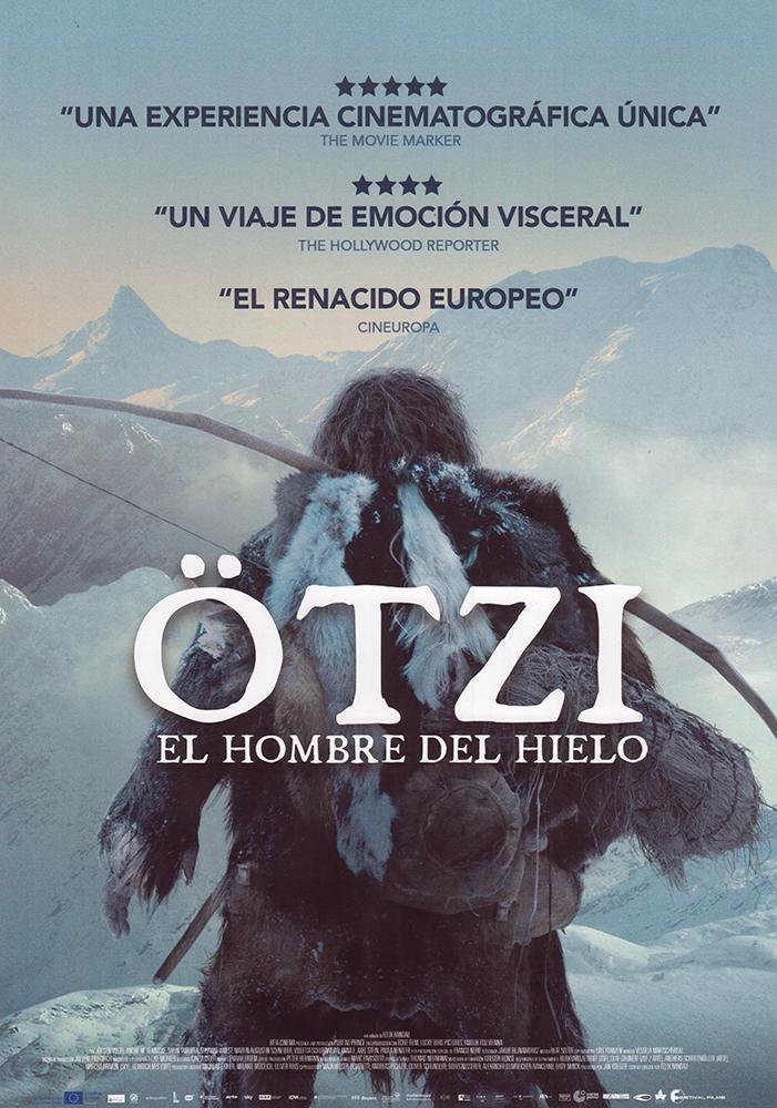 Cartel español de la película 'Ötzi. El Hombre del Hielo' (2017), dirigida y escrita por Felix Randau.