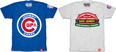 "Chicago Cubs World Series Champions ""Bakeball Champs"" T-Shirt Collection by Johnny Cupcakes"