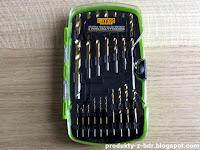Zestaw wierteł do metalu z powłoką tytanową Niteo Tools z Biedronki titanium coated drill bits for metal