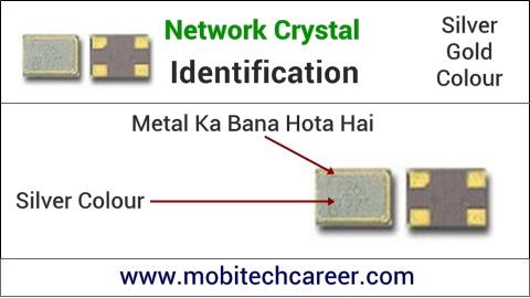 mobile phone repair krna sikhe - pcb circuit board motherboard per small parts - network crystal ki pahchan kaise kare | karya or khrabiya