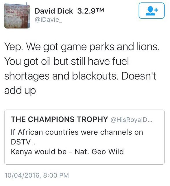 Kenyan Roasts Nigerian Who Insulted Kenya On Twitter