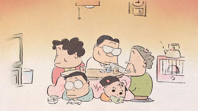 Película Mis vecinos los Yamada de Studio Ghibli, dirigida por Isao Takahata en el año 1999
