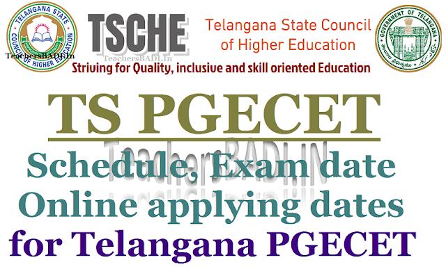 TS PGECET 2018,Schedule,Telangana PGECET 2018
