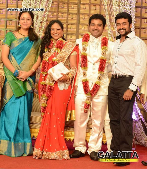 Surya And Jyothika @ Dance Master Shobhi Wedding Reception