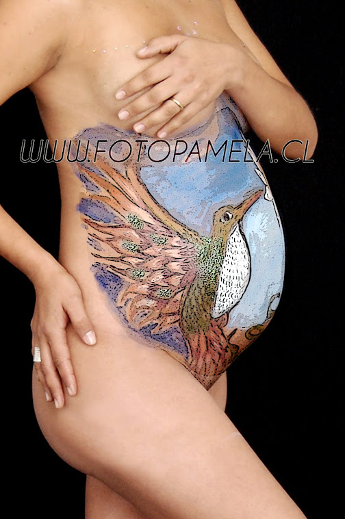 BODY PAINT EMBARAZADA