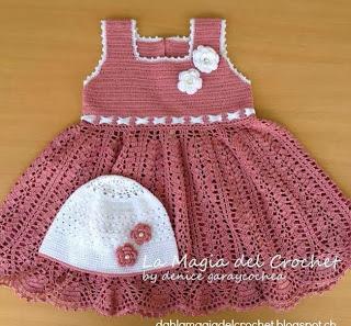 http://dghlamagiadelcrochet.blogspot.com.es/2013/12/vestido-rosa.html