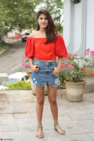 Rhea Chakraborty in Red Crop Top and Denim Shorts Spicy Pics ~  Exclusive 158.JPG