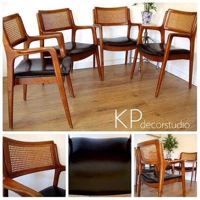 Venta de sillas y muebles de madera estilo danés. Sillas escandinavas de madera de haya y respaldo de ratán.