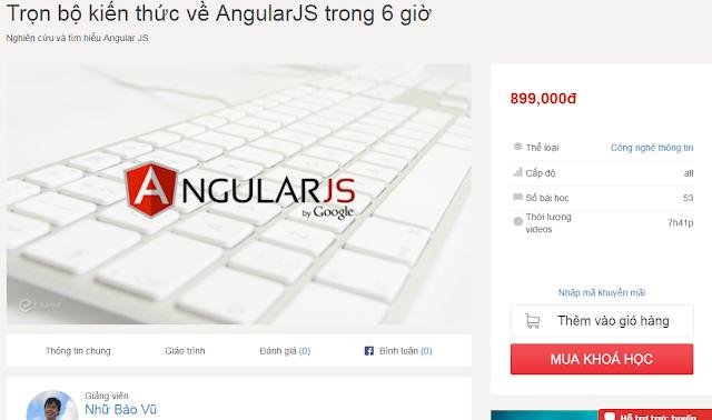 SHARE Khóa Học: Trọn bộ kiến thức về AngularJS trong 6 giờ của Edumall.vn