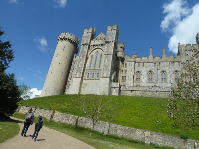 A child taking pictures at Arundel Castle