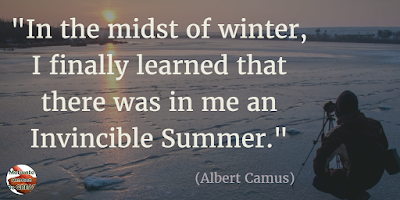 "Quotes About Strength And Motivational Words For Hard Times:""In the depth of winter, I finally learned that within me there lay an invincible summer."" - Albert Camus"