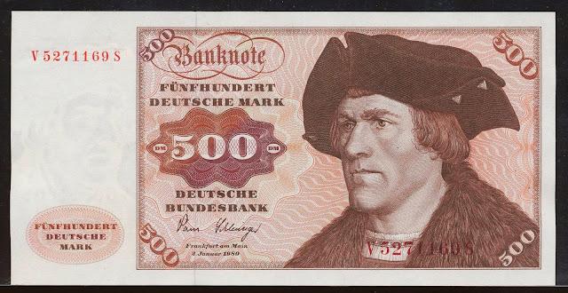 500 Deutsche Mark banknote