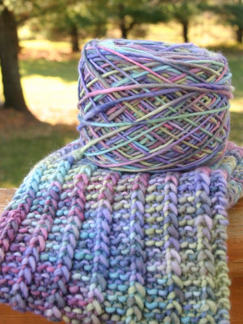 One Row Handspun Scarf - Free Pattern