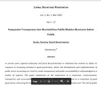 Jurnal Perwujudan Transparansi Dan Akuntabilitas Publik Melalui Akuntansi Sektor Publik