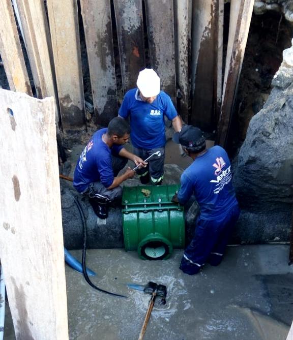 Tecnologia inovadora permite a Compesa realizar obra sem suspender abastecimento de água