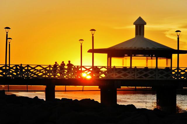 Pôr do Sol na Ponte dos Ingleses, em Fortaleza, na Rota das Emoções