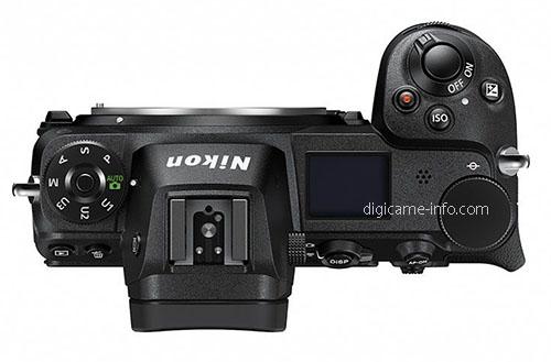 Nikon Z7, вид сверху