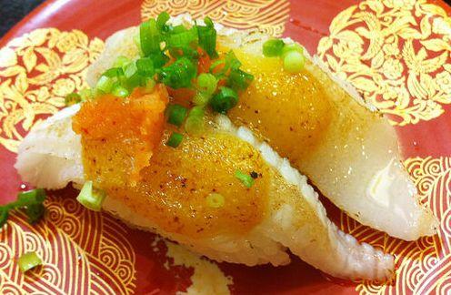 ซูชิเนื้อส่วนหางของปลาตาเดียว (Engawa)