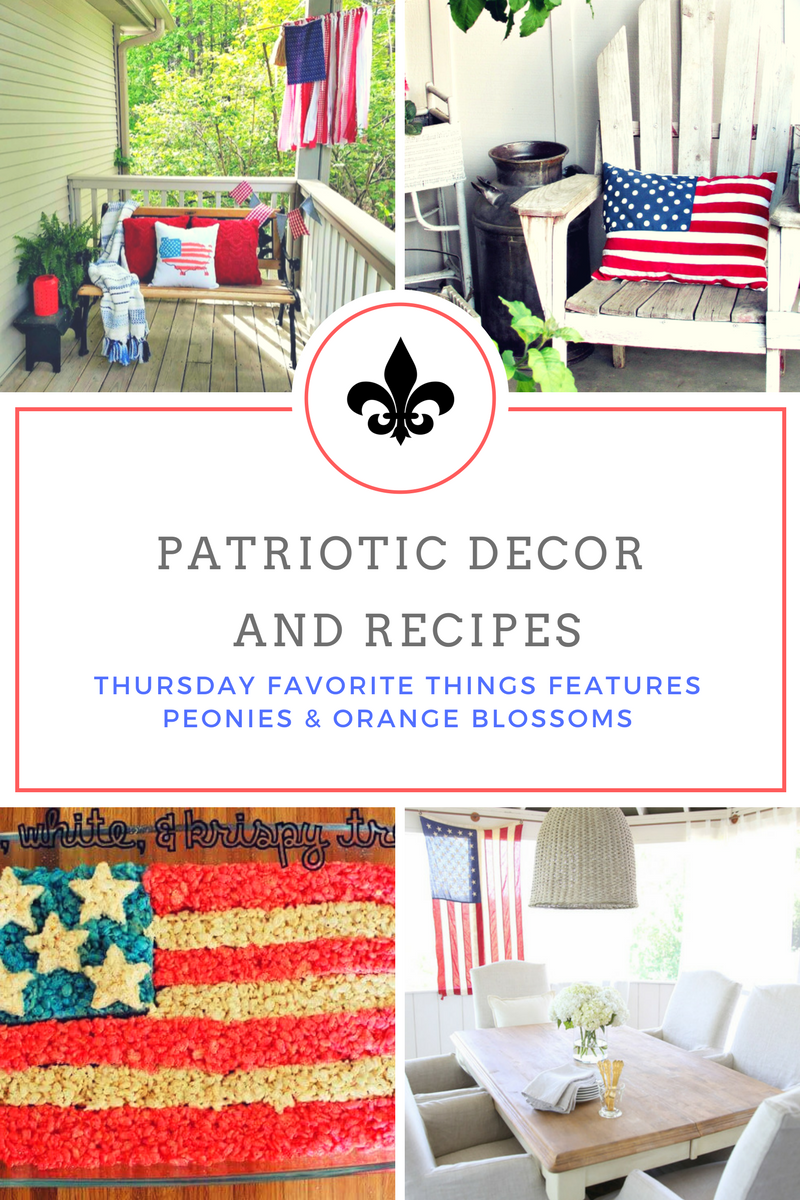 patriotic decor and recipe ideas for Independence day