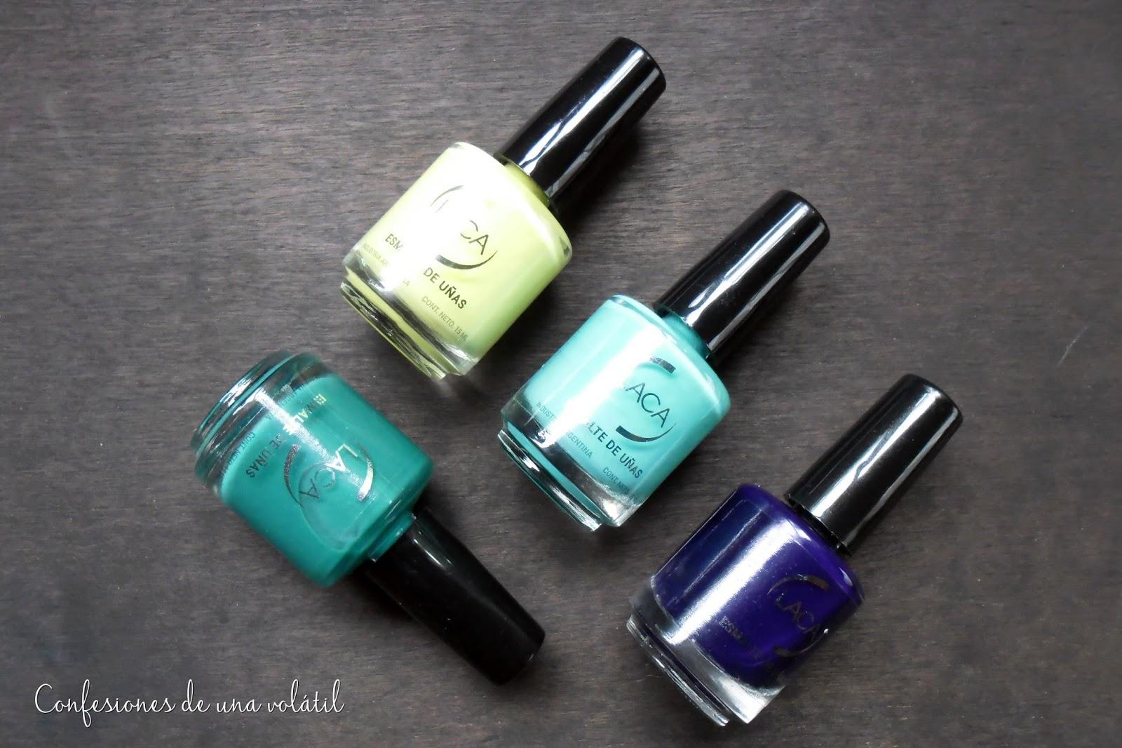 Cuatro esmaltes coloridos, de Laca Cosméticos - Confesiones de una ...