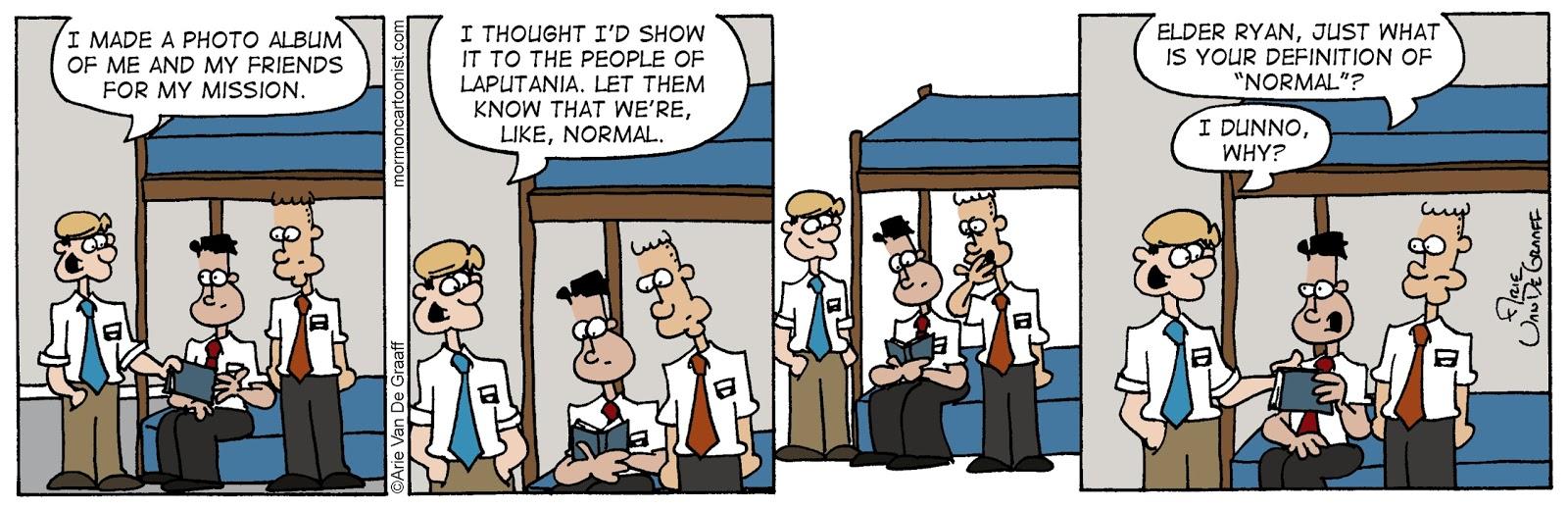 ward cartoonist: definition of normal