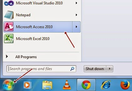 How to create tables in Microsoft Access Database 2010 | MY